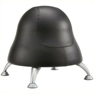 Safco Runtz Ball Office Chair In Black Vinyl