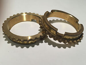 1939 1964 Ford 3 Speed Overdrive Brass Synchronizer Rings Pr B5a 7107