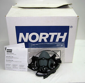 Case Of 12 North 5500 Series Half Mask Air purifying Respirator med