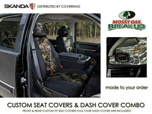 Mossy Oak Break Up Camo Seat Covers Dash Cover Combo For Chevy Colorado