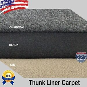 Black Charcoal Tan Un Backed Automotive Trunk Liner Carpet 54 Wide By The Yard