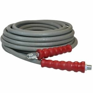 6000 Psi Pressure Washer Hose 3 8 X 100 Grey Non marking R2 Rating