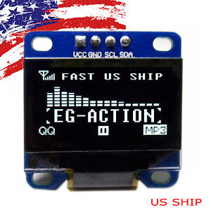 Us 0 96 I2c Iic Serial 128x64 Led Oled Lcd Display Module For Arduino White