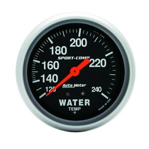 Auto Meter Sport Comp 2 5 8in 120 240 F Mechanical Water Temp Gauge