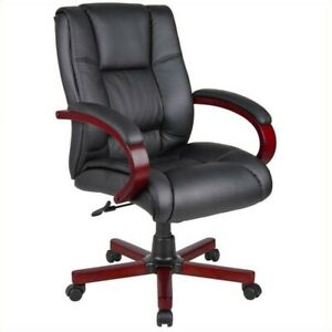 Boss Office Mid Back Executive Chair In Mahogany