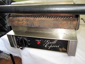 Star Grill Gx10ig Commercial Panini Sandwich Press W Cast Iron Grooved Plates