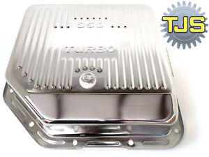 350 Transmission Oil Pan Deep New Finned With Drain Plug