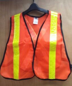 Honeywell Traffic Safety Vest Orange W Elastic Hi visibility Road Guard