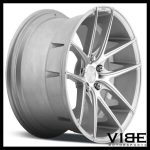 20 Niche Targa Silver Concave Wheels Rims Fits Ford Mustang Gt
