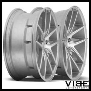 19 Niche Targa Silver Concave Staggered Wheels Rims Fits Acura Tsx