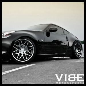 20 Vertini Magic Machined Concave Staggered Wheels Rims Fits Nissan 350z 370z
