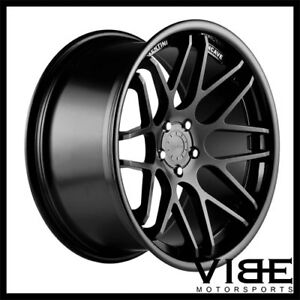 19 Vertini Magic Black Concave Staggered Wheels Rims Fits Nissan 350z 370z