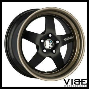 18 Klutch Sl5 Black Five Star Wheels Rims Fits Mitsubishi Evo X