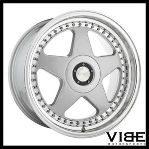 18 Avant Garde M240 Silver Five Star Wheels Rims Fits Vw Volkswagen Rabbit