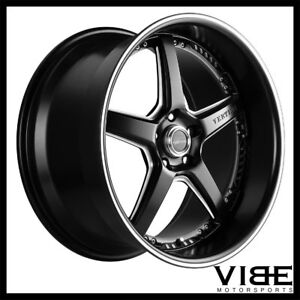 19 Vertini Drift Black Five Star Wheels Rims Fits Hyundai Genesis Coupe