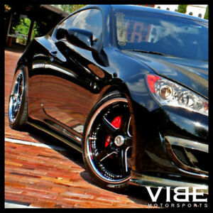 19 Vertini Drift Machined Five Star Wheels Rims Fits Hyundai Genesis Coupe