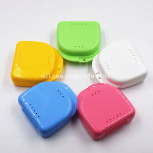 Dental Orthodontic Retainer Denture Storage Case Box Mouthguard Container Choose