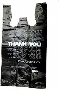 T shirt Plastic Bag Large Thank You Blk 1000 Bags For Grocery Fruit Vegetable