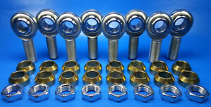 4 link 3 8 24 Thread X 3 8 Bore Jam Nuts Cone Spacers Rod End Heim Joint