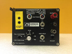 Omega Omni Ii B k Battery Operated K Thermocouple Dc Millivolt Amplifier