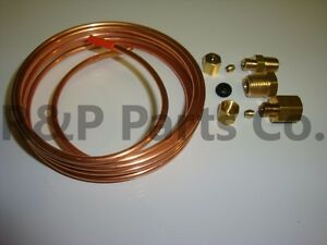 Mechanical Oil Pressure Gauge Install Kit With Fittings 72 Copper Tubing New