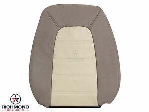02 05 Explorer Eddie Bauer Perforated driver Lean Back Leather Seat Cover Tan