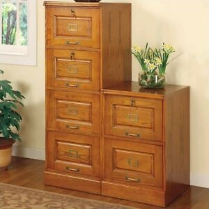 Filing Cabinet File Storage 4 Drawer Vertical Locking Drawer In Oak By Coaster