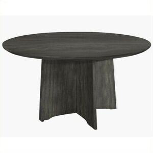 Mayline Medina Conference Table 48 Round In Gray Steel