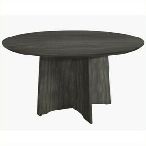 Mayline Medina Conference Table 48 Round Steel Tables In Gray