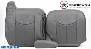 2004 Gmc Yukon Denali Passenger Side Complete Leather Seat Covers 2 tone Gray