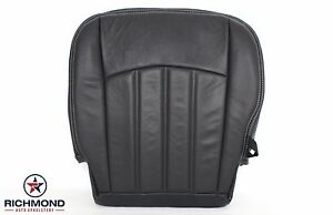 2009 2012 Dodge Ram 1500 Sport Slt Driver Bottom Leather Seat Cover Dark Gray