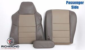 2004 Ford Excursion Eddie Bauer Passenger Complete Leather Seat Covers 2 Tone