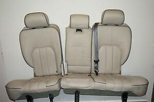 Land Rover Range Rover Hse Lr 3 4 Rear Leather Seat Ivory Black Piping Set Oem