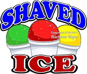 Shaved Ice Decal choose Your Size Concession Food Truck Sign Sticker