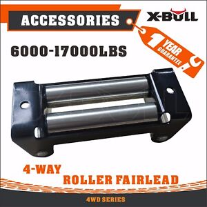 X Bull Heavy Duty Winch Roller Fairlead 10 4 Way Guide For Steel Cable Recovery