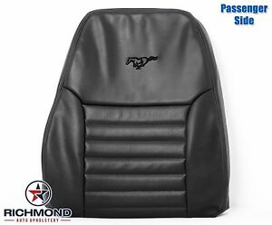 2003 2004 Ford Mustang Gt V8 Passenger Side Lean Back Leather Seat Cover Black