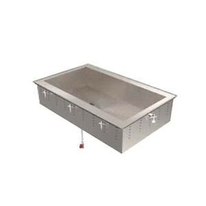 Vollrath 36654 2 Pan Non refrigerated Drop in Short Sided 8 d Cold Food Well