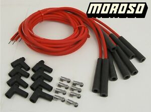 Hei Spark Plug Wires Red Moroso Straight 180 Degree Spark Plug Boot