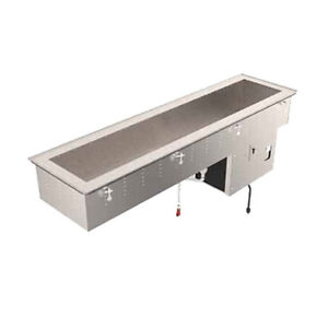 Vollrath 36656 3 Pan Refrigerated Drop in Short Sided 6 5 8 d Cold Food Well