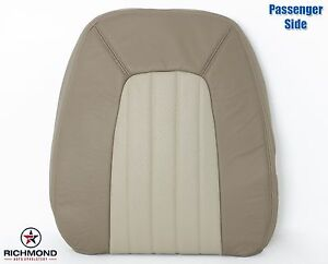 02 05 Mercury Mountaineer passenger Side Lean Back Leather Seat Cover 2 tone Tan