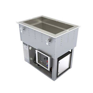 Vollrath 3667101d Top Mount 1 pan Electric Drop in Hot cold Well