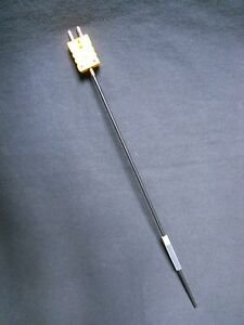 Jkem Type K Thermocouple Probe With Attached Male Connector 12 Sheath Length