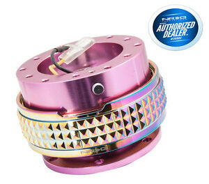 Nrg Steering Wheel Quick Release Gen 2 1 Pink Neochrome Pyramid Srk 210pk Mc