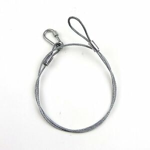 2pc 3 16 Galvanized Wire Cable Sling 7x19 6ft Long With Loop Eyes Carabiner