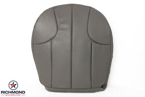 1999 Jeep Grand Cherokee Laredo Driver Side Bottom Leather Seat Cover Gray