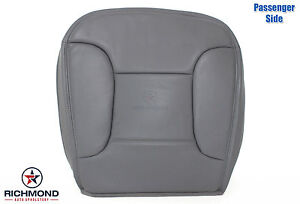 92 93 94 95 96 Bronco Xlt Passenger Bottom Perforated Leather Seat Cover Gray