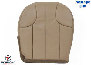 2001 Jeep Grand Cherokee Laredo Passenger Side Bottom Leather Seat Cover Tan