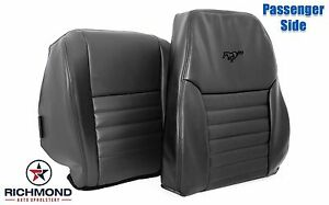 99 04 Ford Mustang Gt complete Passenger Perforated Leather Seat Covers Black