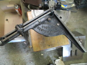 Craftsmen Mchy Co Victor Letterpress Typesetter Paper Press Hand Miterer