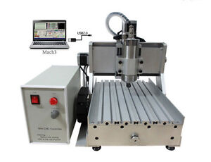 Usb Port 1500w Mini Cnc Router 3020 Z vfd 3axis Wood Pcb Milling Machine